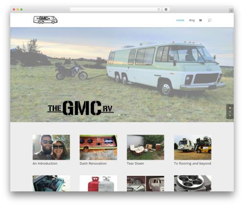 WordPress theme Divi - thegmcrv.com