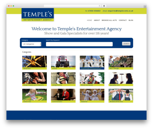 WordPress theme Flexible - temples-ents.co.uk