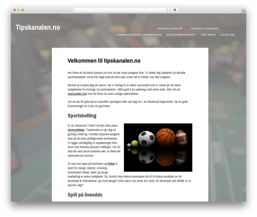 WordPress theme Gibson - tipskanalen.no