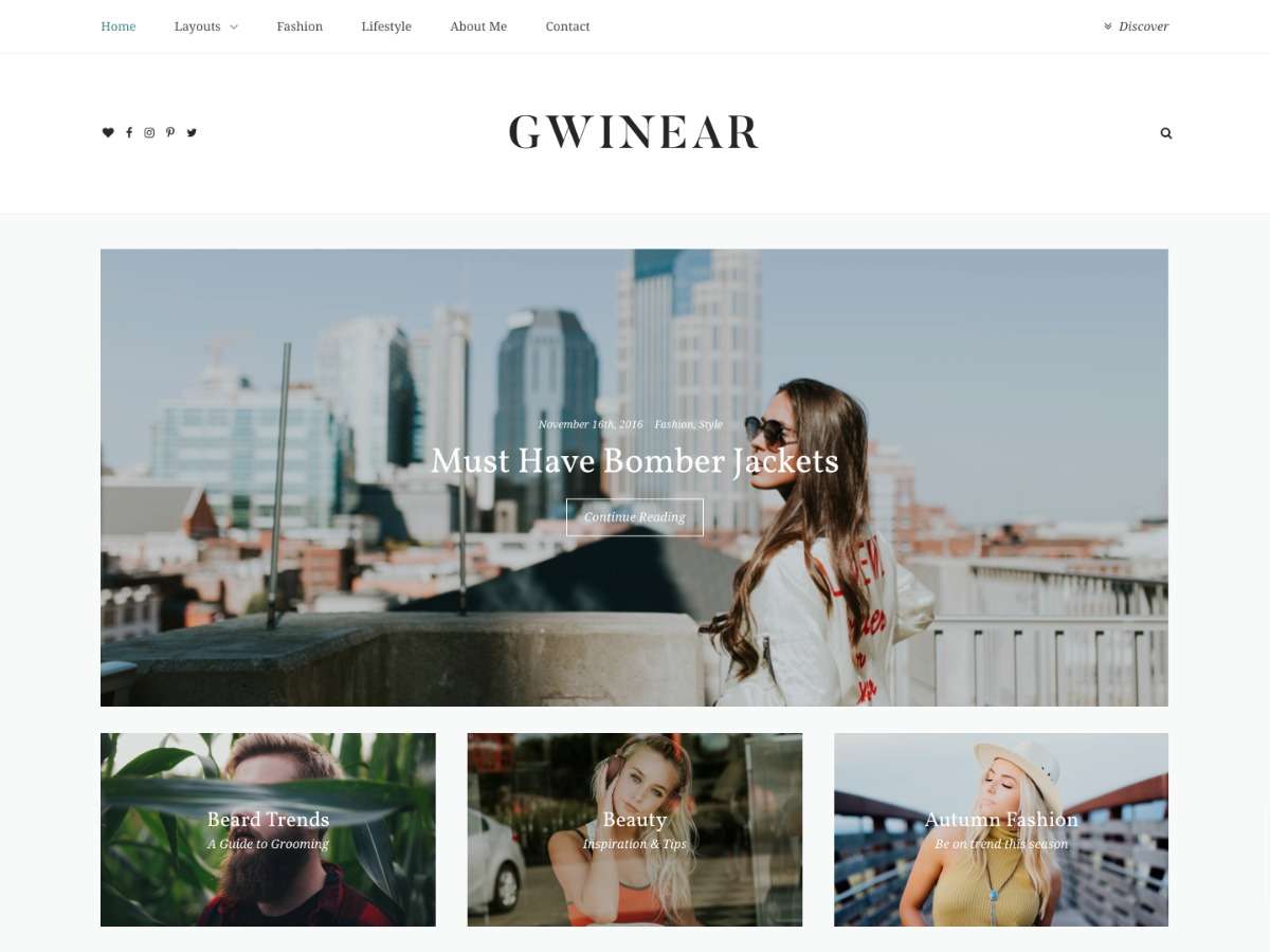 WordPress website template Gwinear