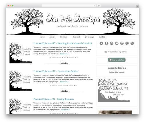 WordPress website template Tweak Me - teainthetreetops.com