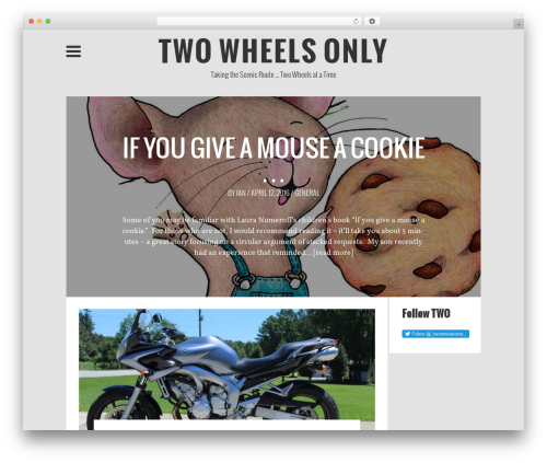 WP theme Wp Contented - two-wheels-only.com