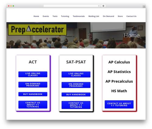 Best WordPress theme Ascension - prepaccelerator.com