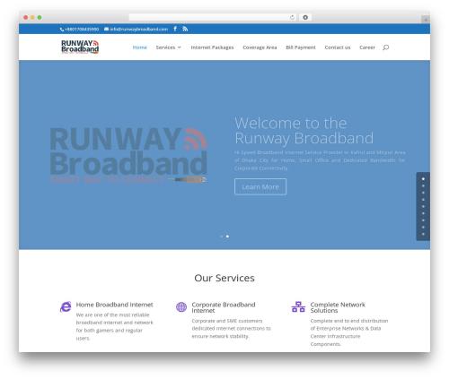Divi WordPress theme design - runwaybroadband.com