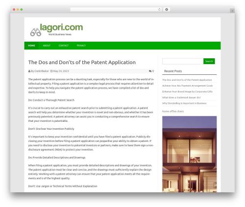 Forestly newspaper WordPress theme - iagori.com