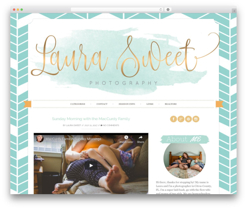 Sugar and Spice WP template - laurasweetphotography.com