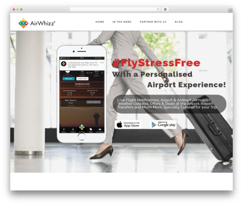 Fusion best WordPress template - airwhizz.com