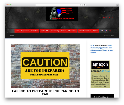 WordPress theme Enfold - boricuapreppers.com