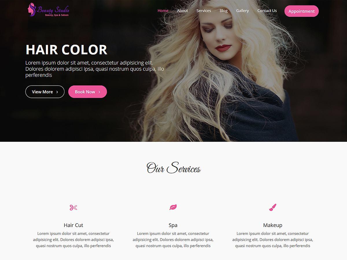 Beauty Studio WordPress shopping theme