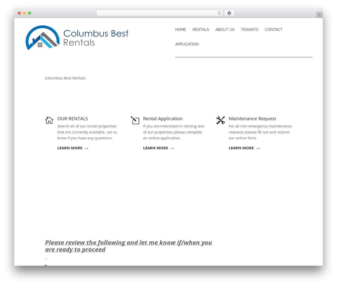 Divi theme WordPress - columbusbestrentals.com