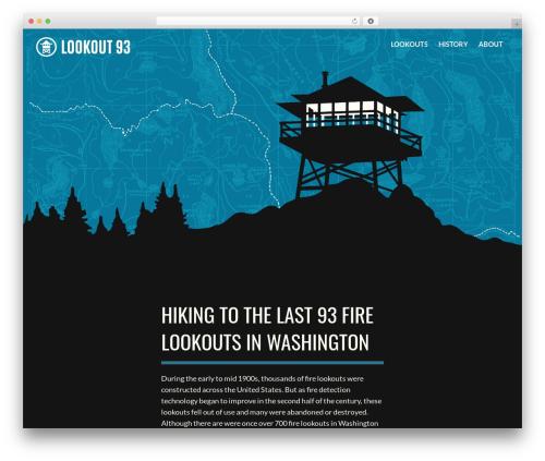 Flat Bootstrap free WordPress theme - lookout93.com