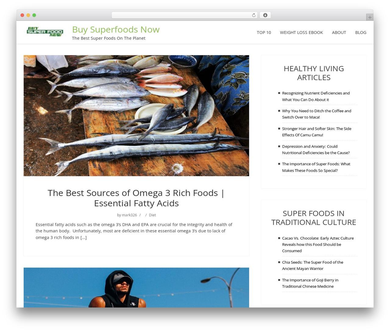 ShowMe food WordPress theme - buysuperfoodsnow.com