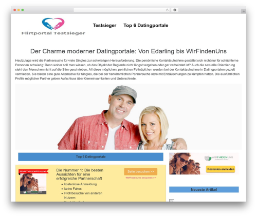 UnderStrap WordPress theme - flirtportal-testsieger.com