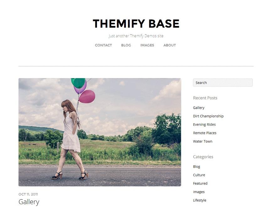 WP theme Themify Base