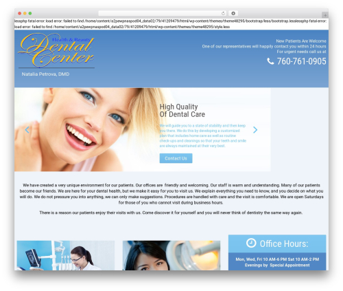cherry WordPress website template - drpetrova.com