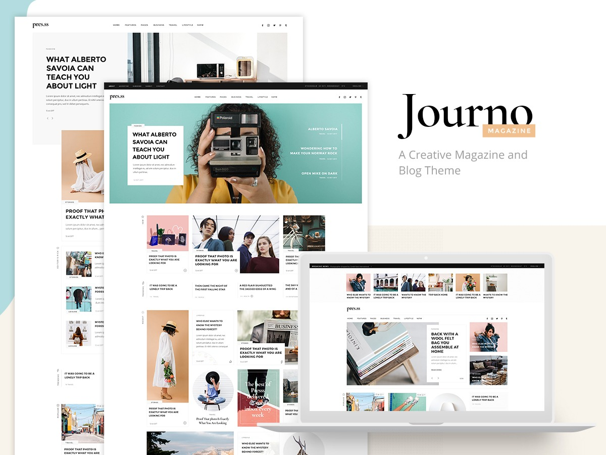 Journo WordPress blog theme