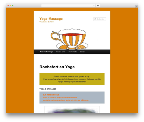 Twenty Eleven best free WordPress theme - yoga-rama.com
