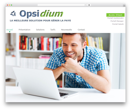 cherry WordPress website template - opsidium.com