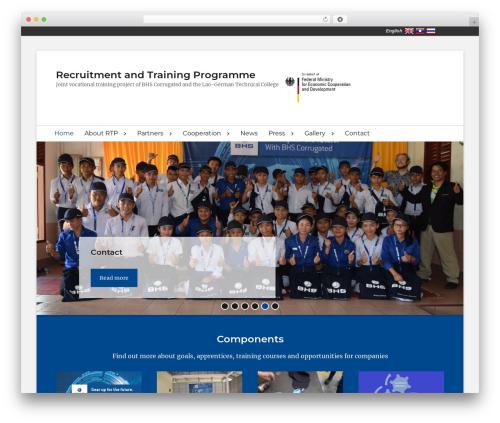 Clean Education Pro WordPress theme - rtp-laos.com
