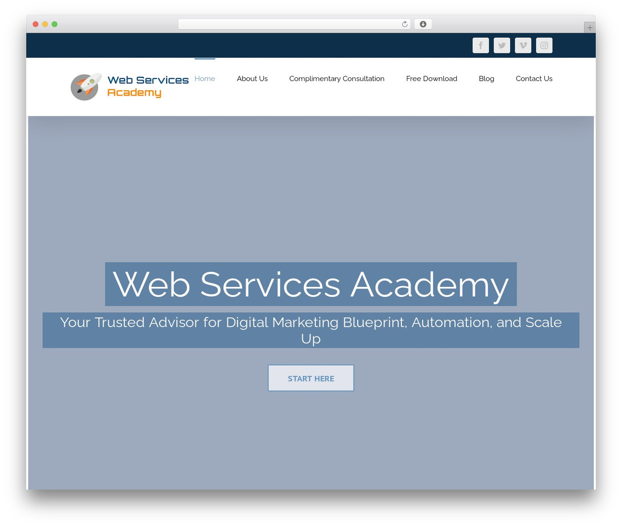 Avada business WordPress theme - webservicesacademy.com