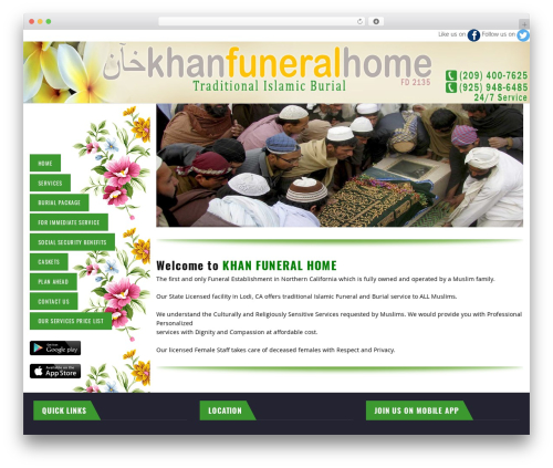 Best WordPress theme TM Transport - khanfuneralhome.com