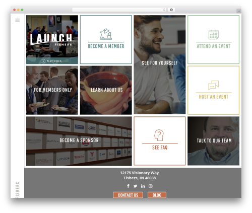 Bridge WordPress template for business - launchfishers.com