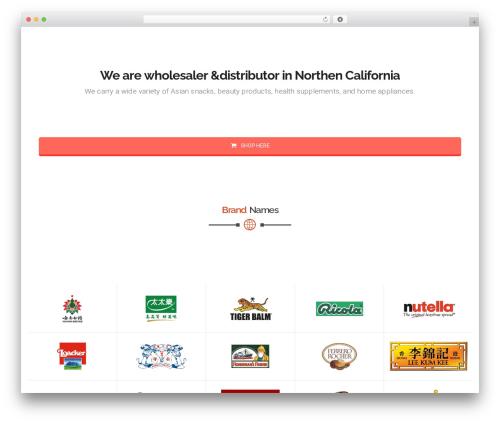 California WordPress theme design - affluentsupply.com