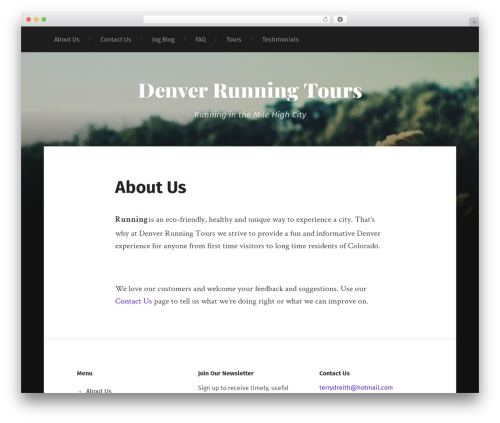 Garfunkel WordPress theme free download - denverrunningtours.com