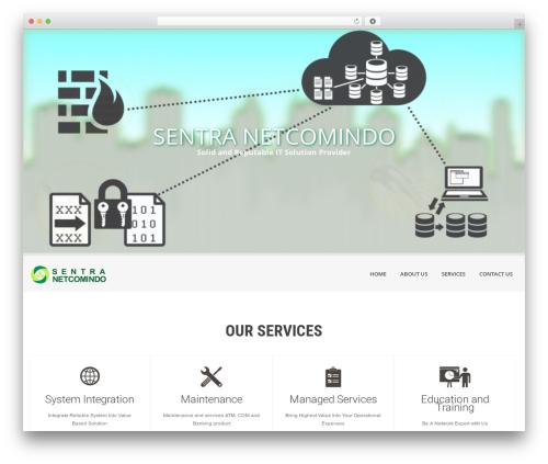 SKT White WordPress theme design - sentranetcomindo.com
