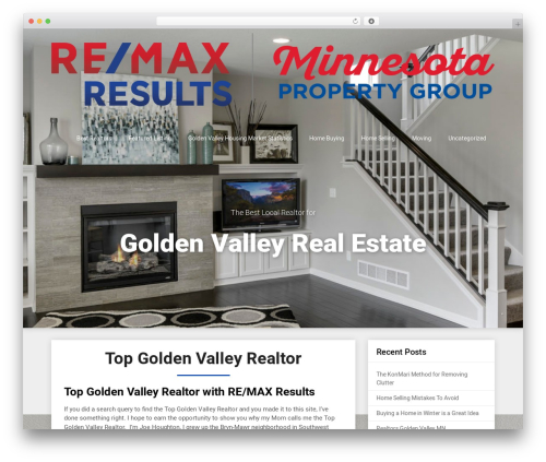 Triumph SEO real estate template WordPress - goldenvalleyrealtor.com