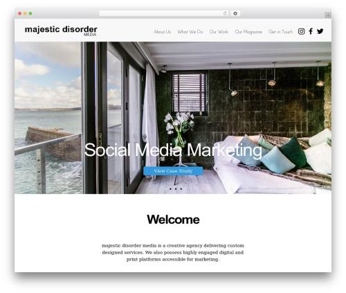 WordPress theme Elegant - majesticdisordermedia.com