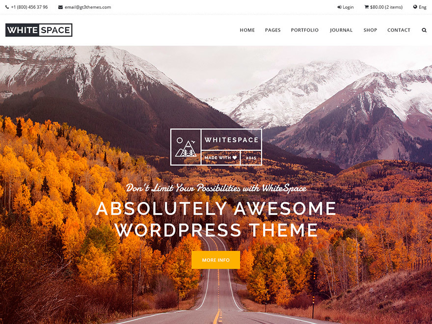 WordPress website template Whitespace 1.3