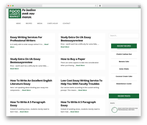LiteMag | Shared By Themes24x7.com food WordPress theme - foodloversmauritius.com