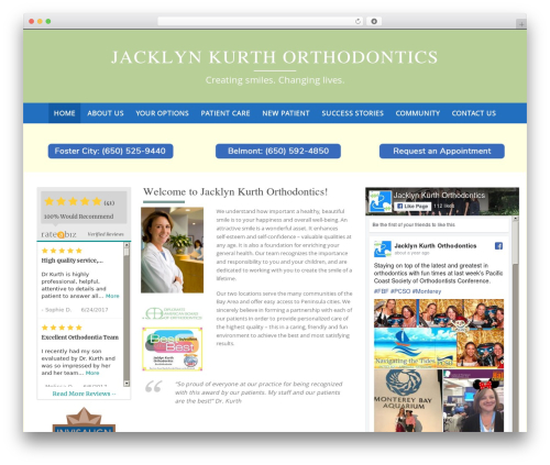 Pure & Simple free WordPress theme - jacklynkurthorthodontics.com