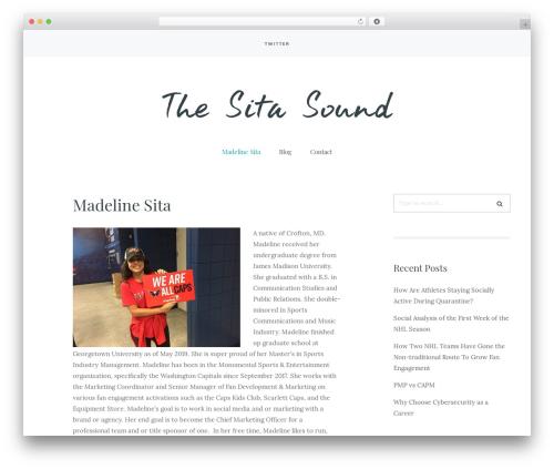 Carbis WordPress theme - thesitasound.com