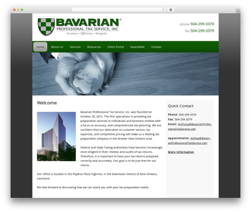 Customized WP template - bavarianprofessionaltaxservice.com
