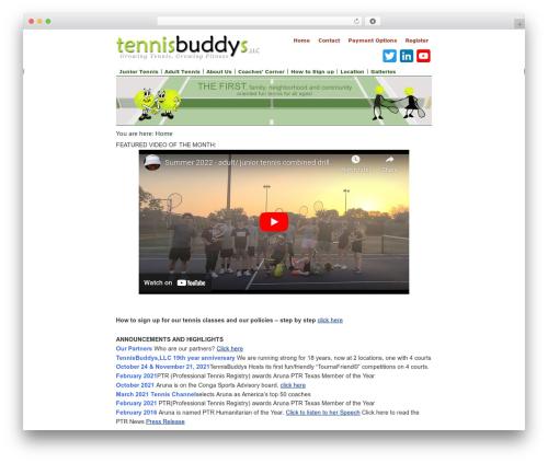 Dynamik-Gen gym WordPress theme - tennisbuddys.com