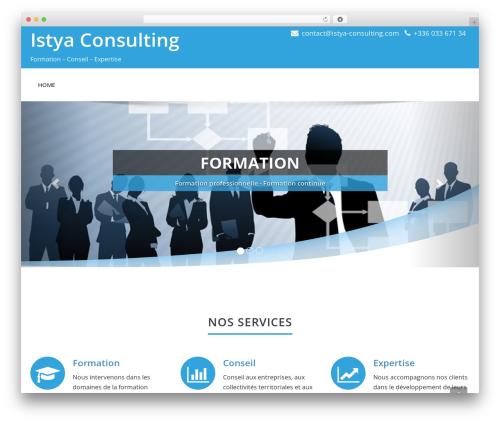 Enigma free WordPress theme - istya-consulting.com
