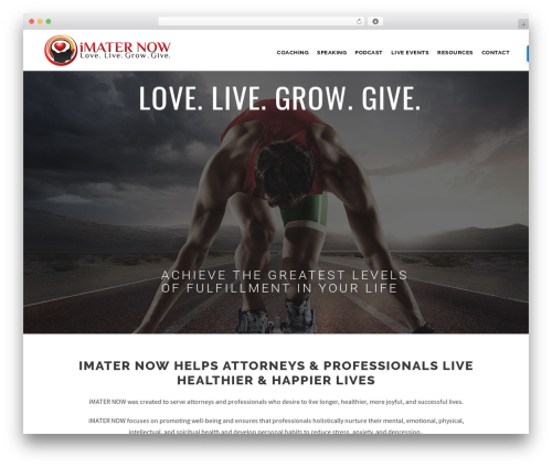Infinite WP theme - imaternow.com
