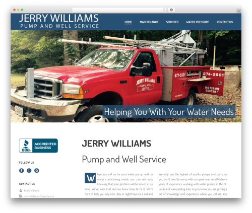Jupiter WP theme - jerrywilliamswaterwellservice.com