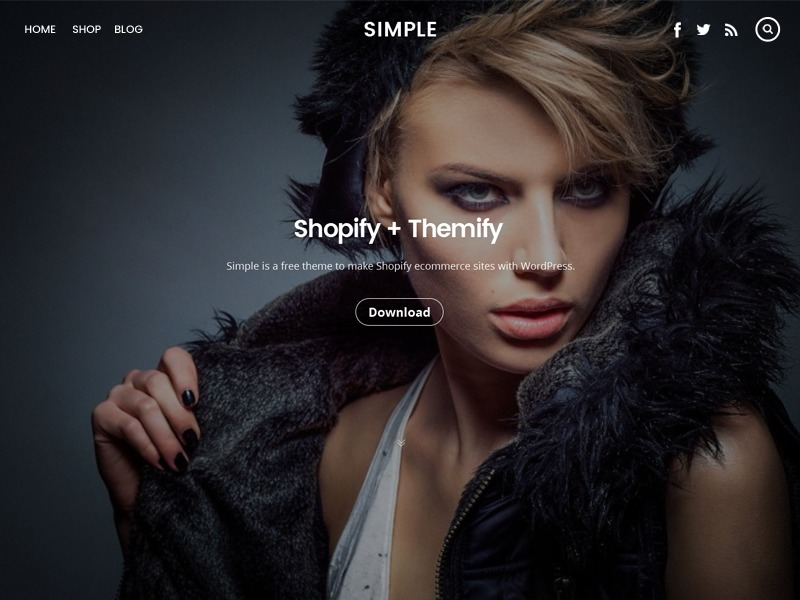 Themify Simple Child WordPress page template