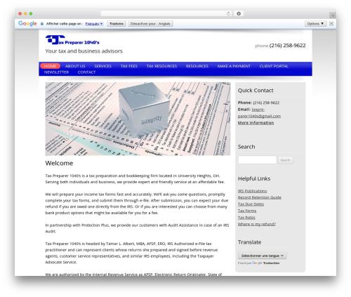 Best WordPress theme Customized - taxpreparer1040s.com