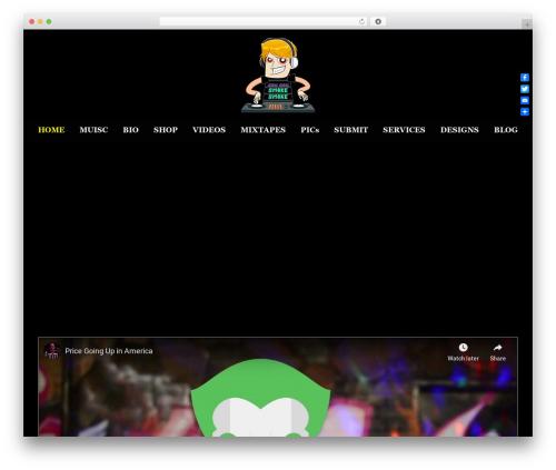 SmartShop WordPress theme design - djhandcuffz.com