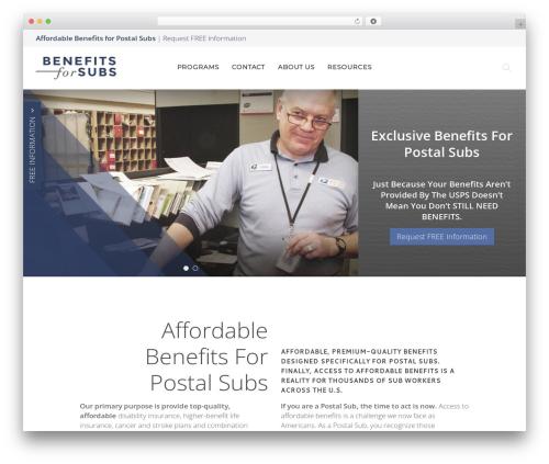 WordPress theme Chester - benefitsforsubs.com