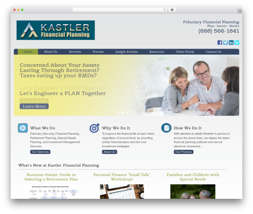 Augustus best WordPress template - kastlerfinancialplanning.com