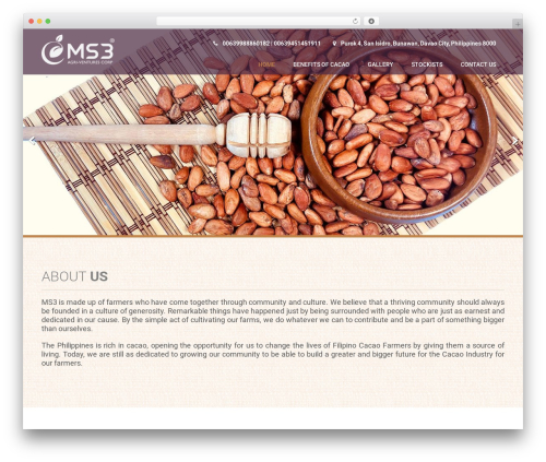 Coffee Pro top WordPress theme - ms3-agriventures.com
