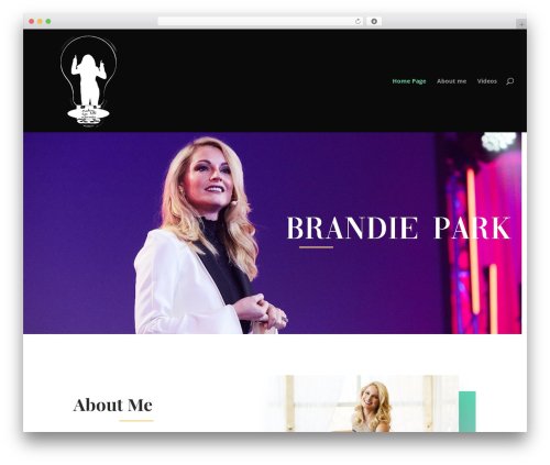 Divi business WordPress theme - brandiepark.com
