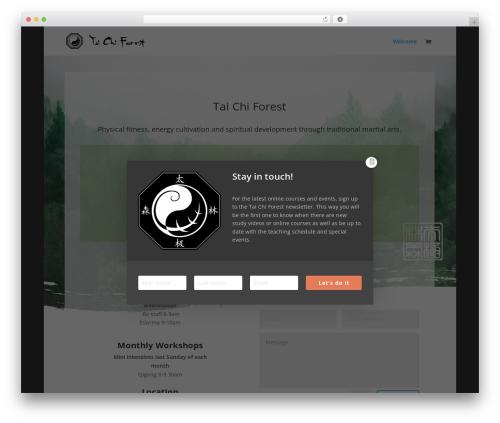 Divi WordPress theme - taichiforest.com