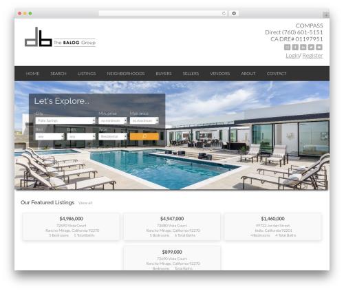 IDXCentral real estate WordPress theme - dougbalog.com