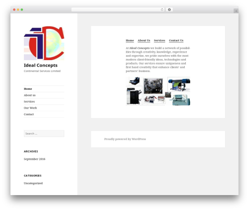 Twenty Fifteen free WP theme - idealconceptsng.com